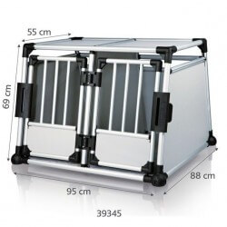 Cage de transport double en Aluminium