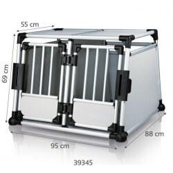 Cage de transport double en Aluminium