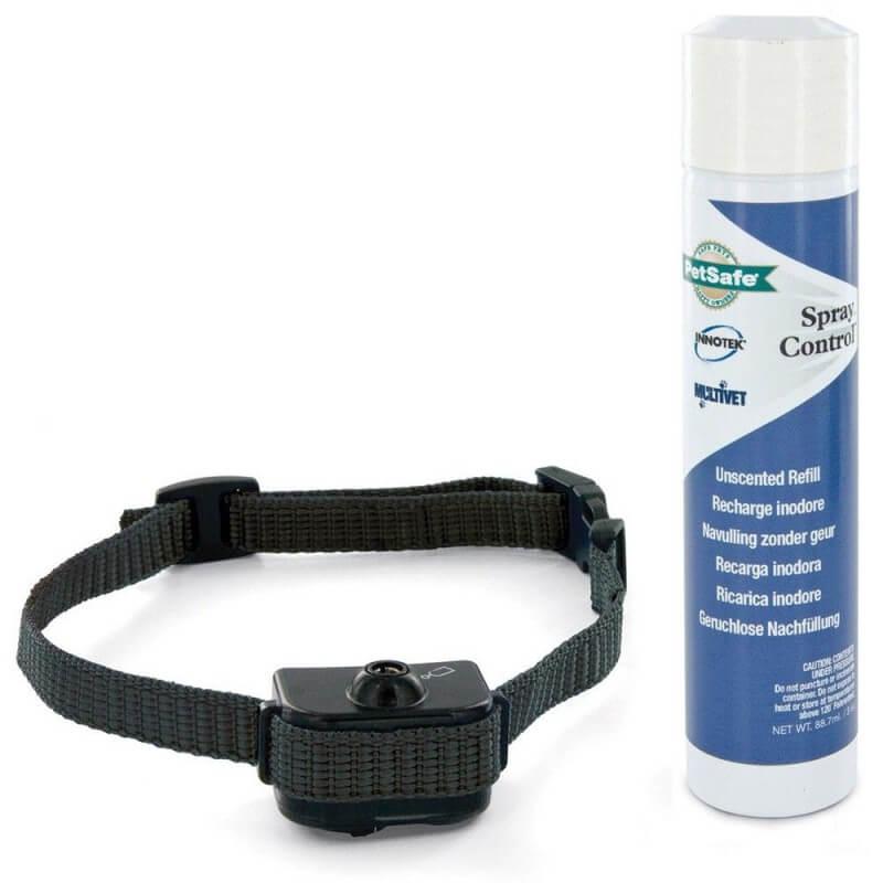 CYNNOTEK - Collier anti-aboiement à spray petit et moyen chien