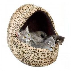 """Abri douillet """"Leo"""" pour chien et chat - 35 * 35 * 40 cm"""