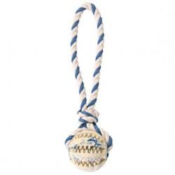 Balle sur une corde Denta Fun, caoutchouc naturel, ø 7 cm/24 cm - masse les gencives