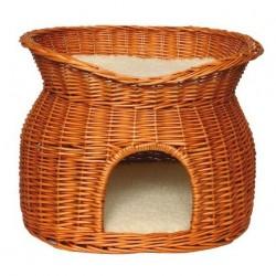Panier en Osier avec lit pour chat