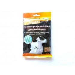 Hygiène de l'animal : Gants de Nettoyage sans rincage