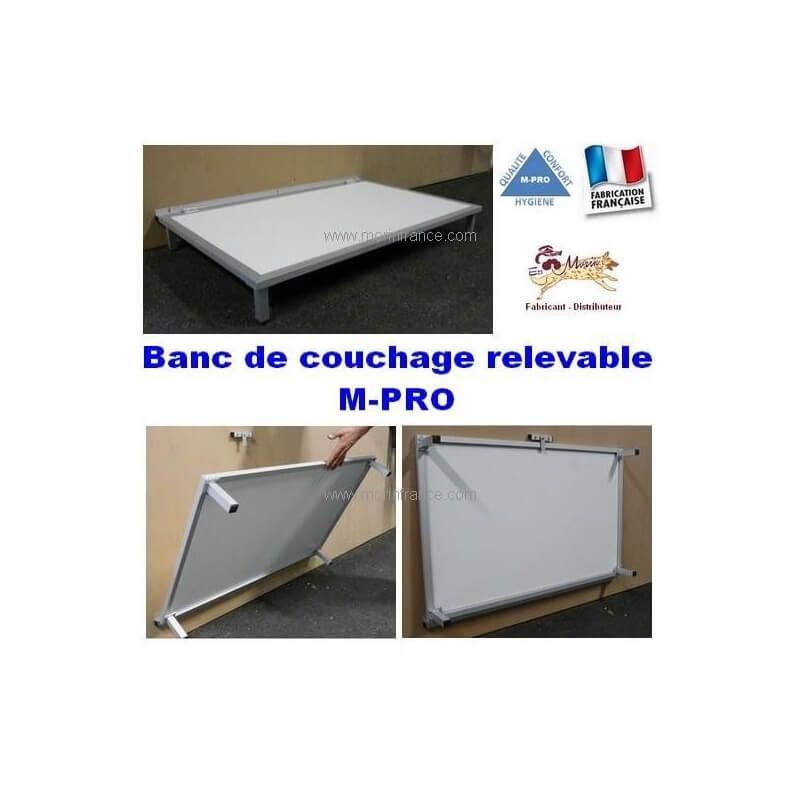 Banc de couchage relevable pour chien - M-PRO