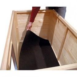 Tapis caoutchouc pour niche bois CONFORT