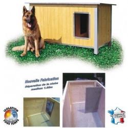 Niche bois CONFORT toit incliné pour chien