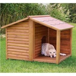 Niche en bois pour chien CHALET NATURA