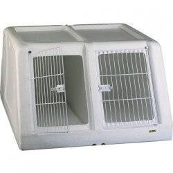 Cage de transport Autobox plastique - Double pour chiens