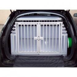Cage de transport DogBox Pro Double pour deux chiens, modèle réhaussée