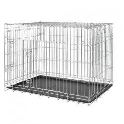 Cage de transport métal pliante - 2 portes