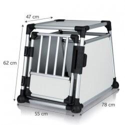Cage de transport Alu Autobox pour chiens