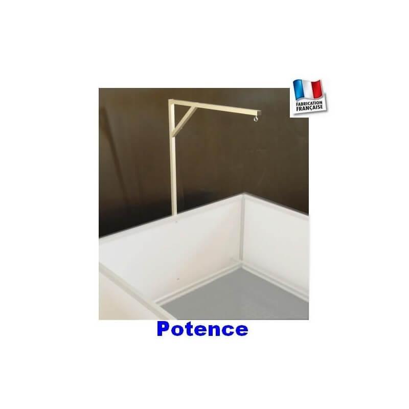 Potence à lampe chauffante pour bac de mise bas  - 1