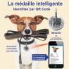 Médaille intelligente identifiée par QR Code pour chien ou chat