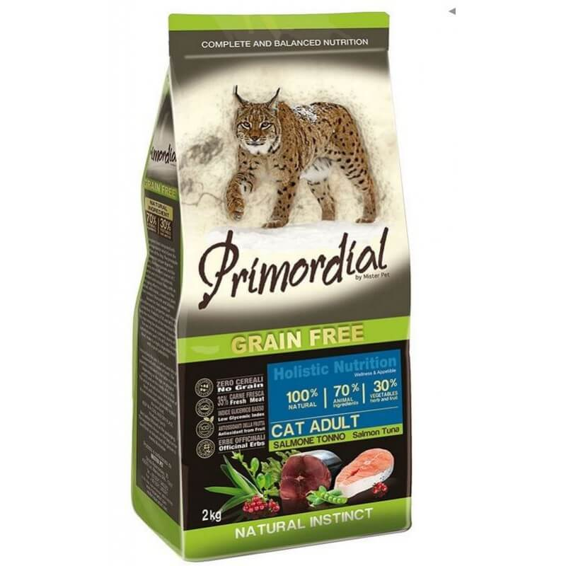 PRIMORDIAL - CAT ADULT Saumon et Thon - 2Kg