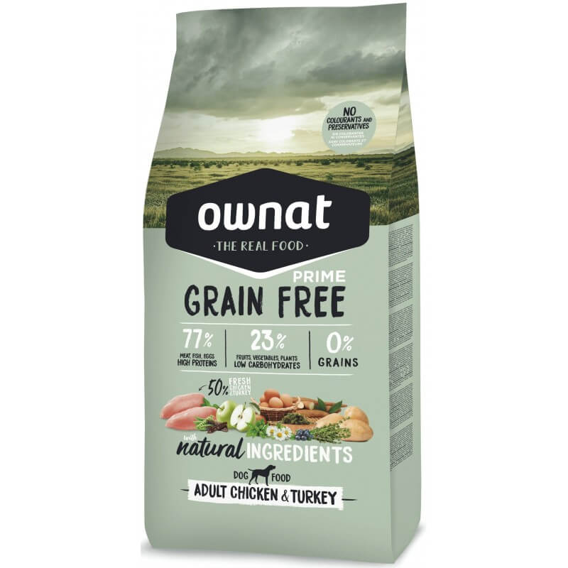 OWNAT GRAIN FREE PRIME - adult chicken and turkey