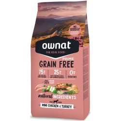 OWNAT GRAIN FREE PRIME - mini chicken and turkey
