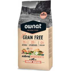 OWNAT GRAIN FREE JUST - salmon and seafood