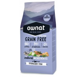 OWNAT GRAIN FREE PRIME CAT - sterilized fish