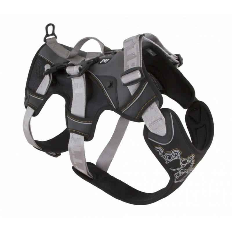 HURTTA - harnais de randonnée trail noir pour chien