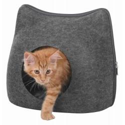 Abri douillet - Tête de chat en feutre