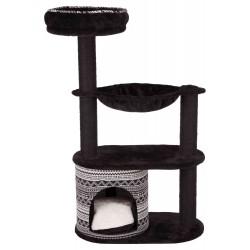 """Arbre à chats """"Giada"""" noir et motif graphiques  - 1"""