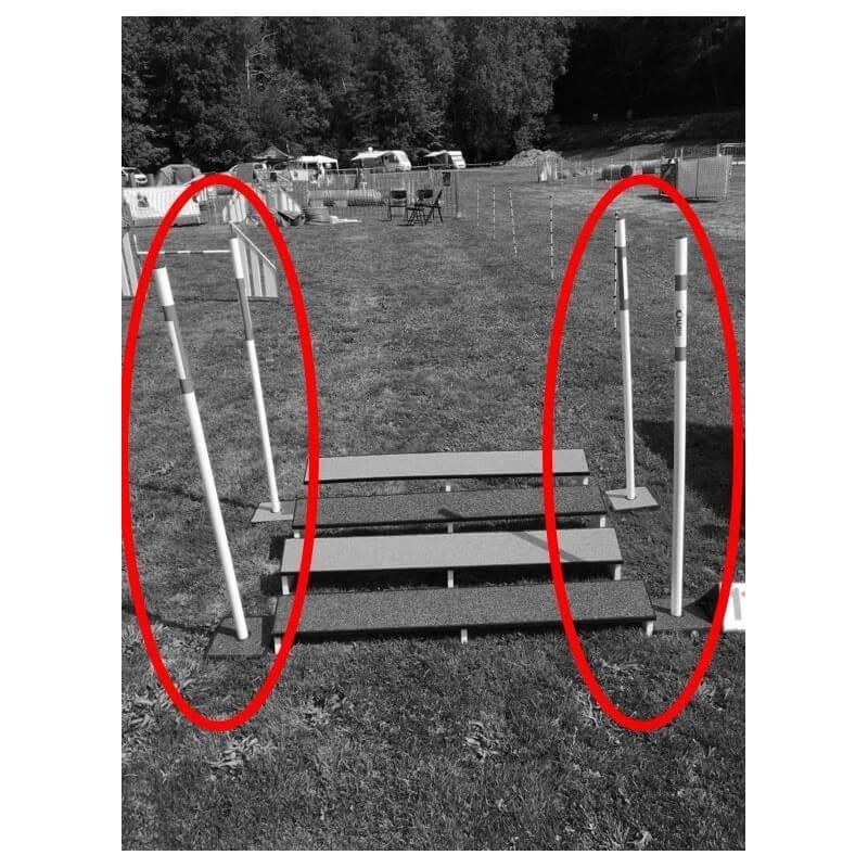 Piquet de saut en longueur + base à l'unité