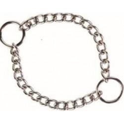 Collier chainette chromé double