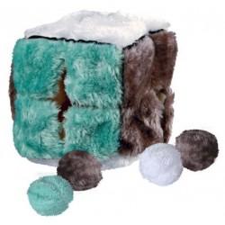 Cube de jeu avec 4 balles