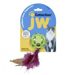 JW Cataction Feather Ball with Bell